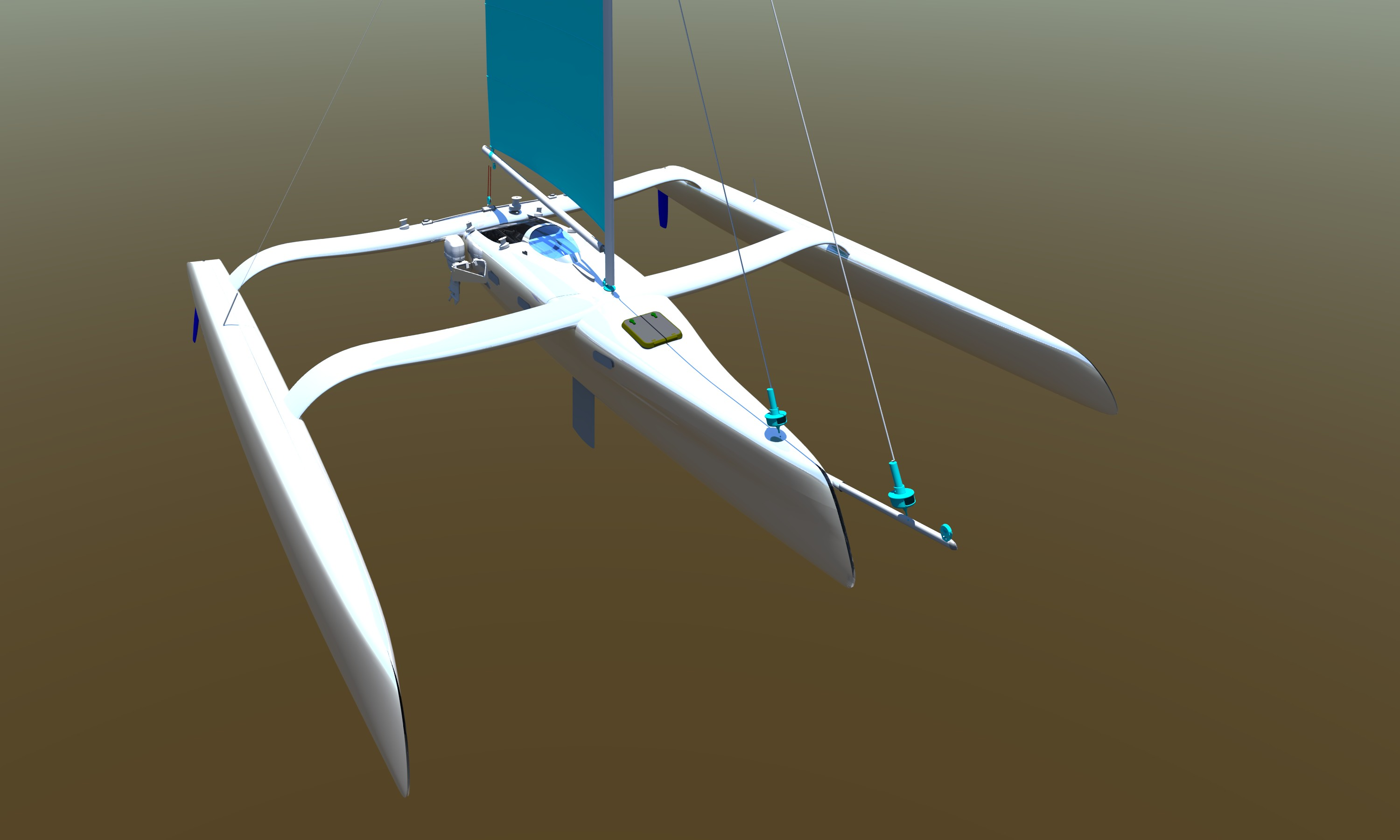 40 Foot Performance Shorthanded Trimaran for Owen